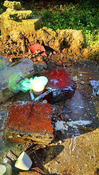 The reaction between sulphur & zinc. - Magick is just the science we don't understand yet.