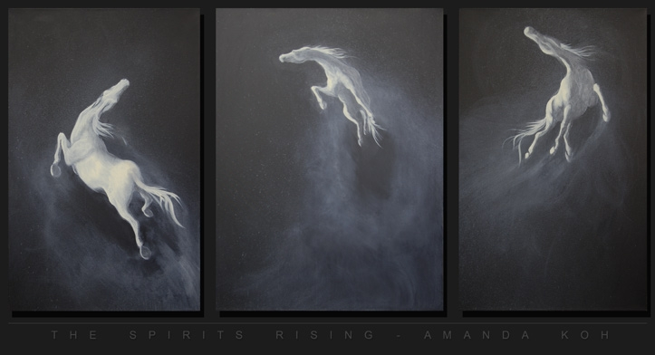 """The Spirits Rising"" (2005) - Acrylic on Canvas - 48'x105"""