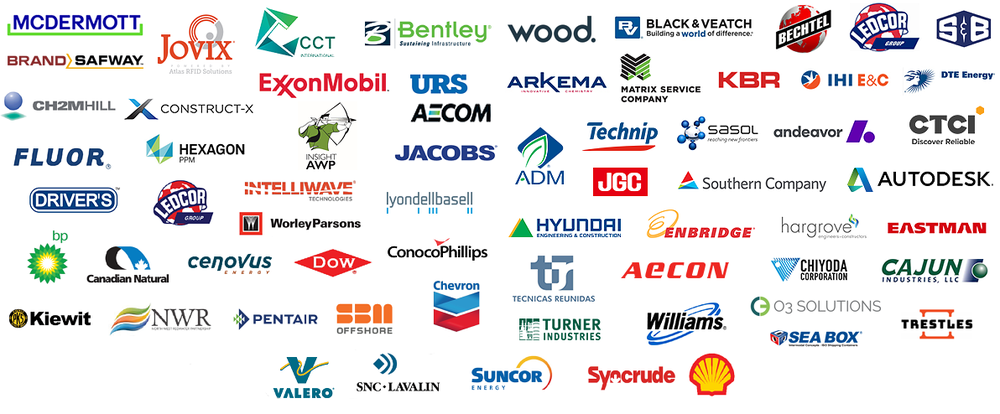 Partial list of past AWP Conference attendee companies (2009-2018).