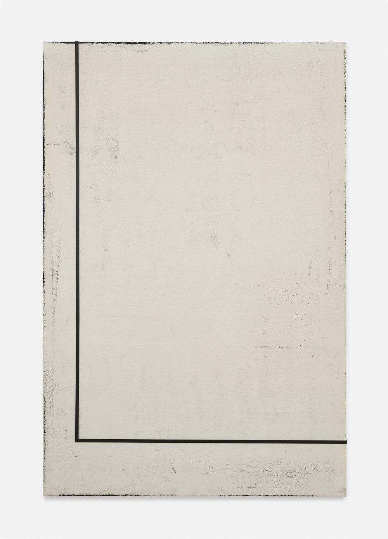 Noon II | 2018 | Öl, Staub und Metall auf Leinwand | 210 x 140 cm | ©GALERIE ALBER