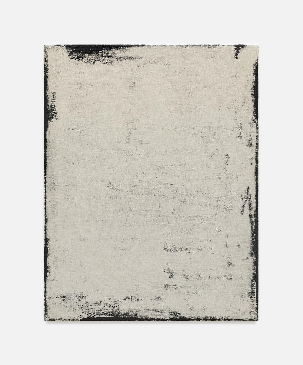 Noon I | 2018 | Öl, Staub und Metall auf Leinwand | 90 x 70 cm | ©GALERIE ALBER