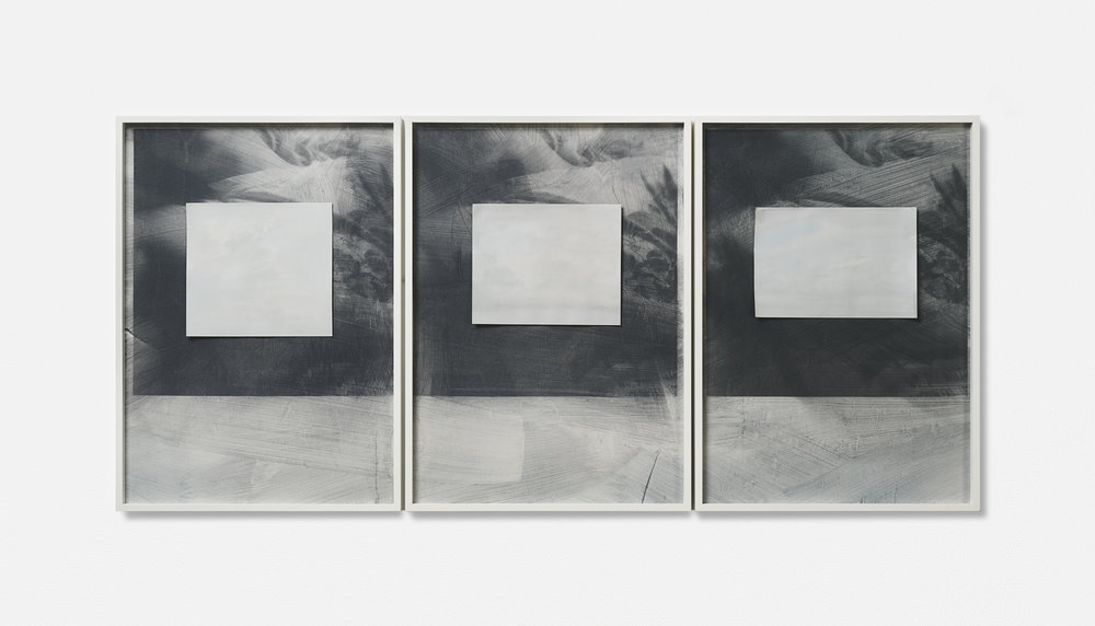 … MONT VENT TOUS / 08. / | 2002 - 2019 | Gouache Siebdruck auf Papier, Aquarellblatt, Künstlerrahmung | 133.5 x 43 x 3.5 cm | ©GALERIE ALBER