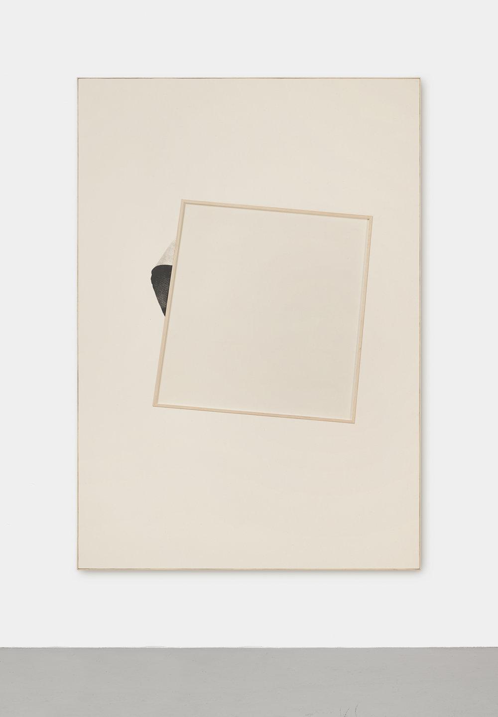 Le soleil se lève derrière l'abstraction, VI | 2015 | Gouache Siebdruck, Leinen hinter Glas, Künstlerrahmung | 200 x 140 x 4.5 cm | ©GALERIE ALBER