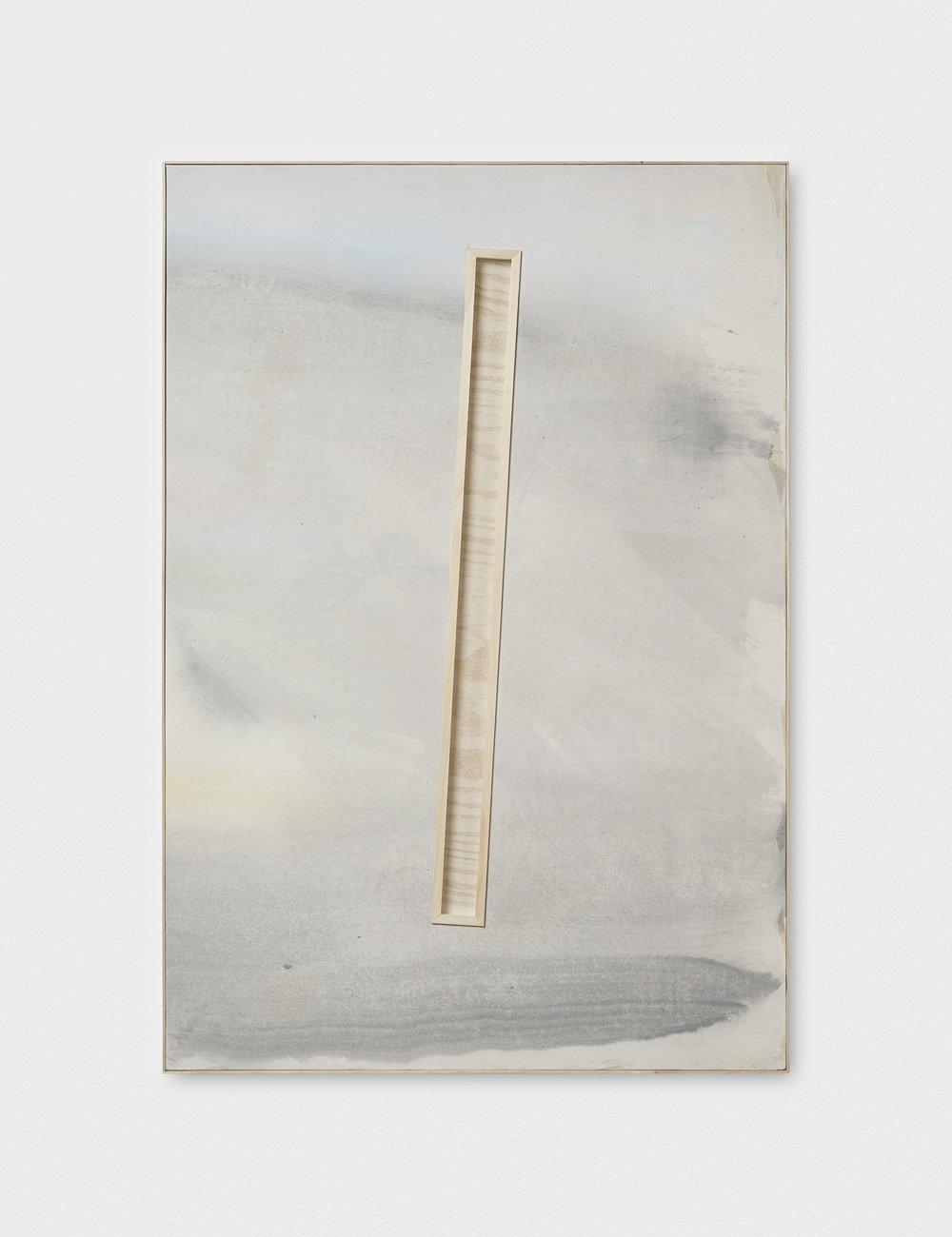 L. S. S. L. D. L' A., XXII | 2019 | Acryl und Kreide auf Leinen, Holz hinter Glas, Künstlerrahmung | 96 x 66 x 3.5 cm | ©GALERIE ALBER