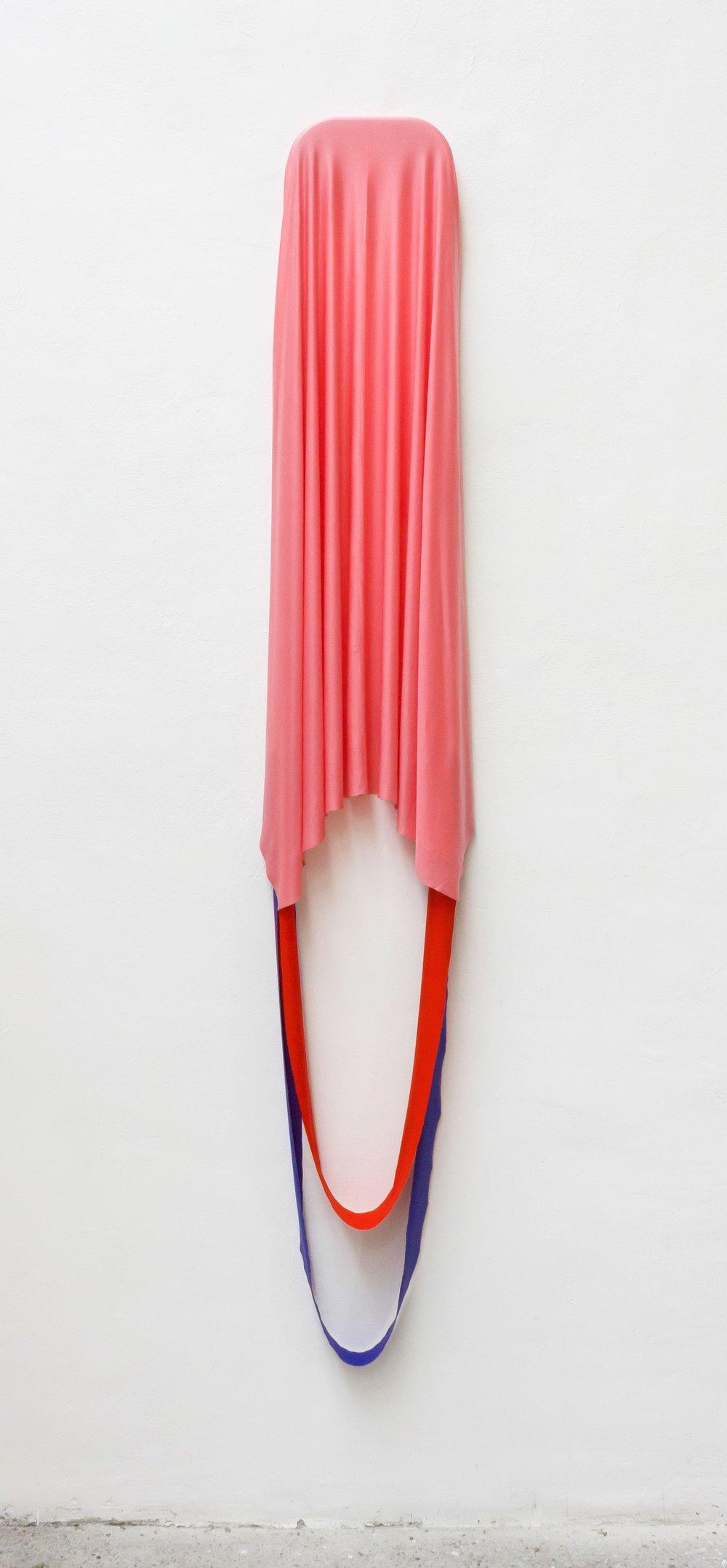 Stileis | Stahl, Textil | 170 x 40 x 5 cm | 2018 | ©GALERIE ALBER