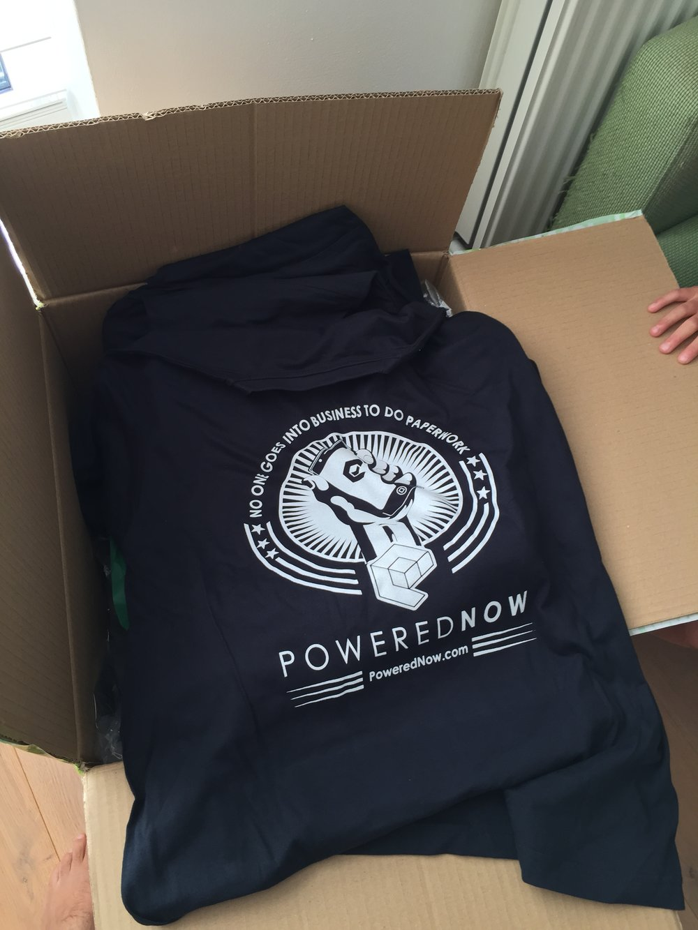 Our biggest outlay, a box of T-Shirts