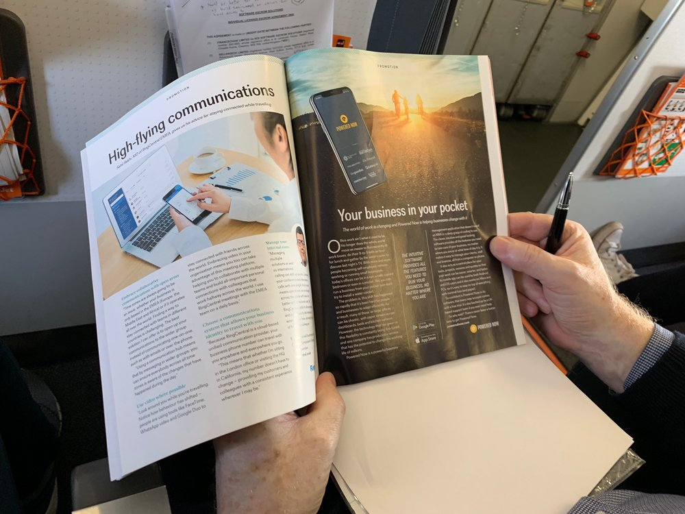 Finding us in the EasyJet magazine, 2018