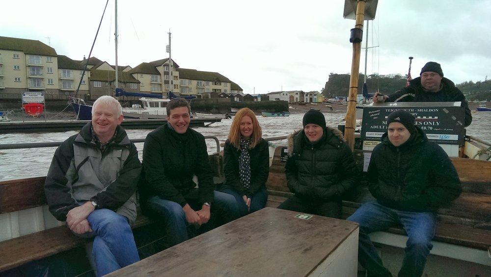 Company boat trip