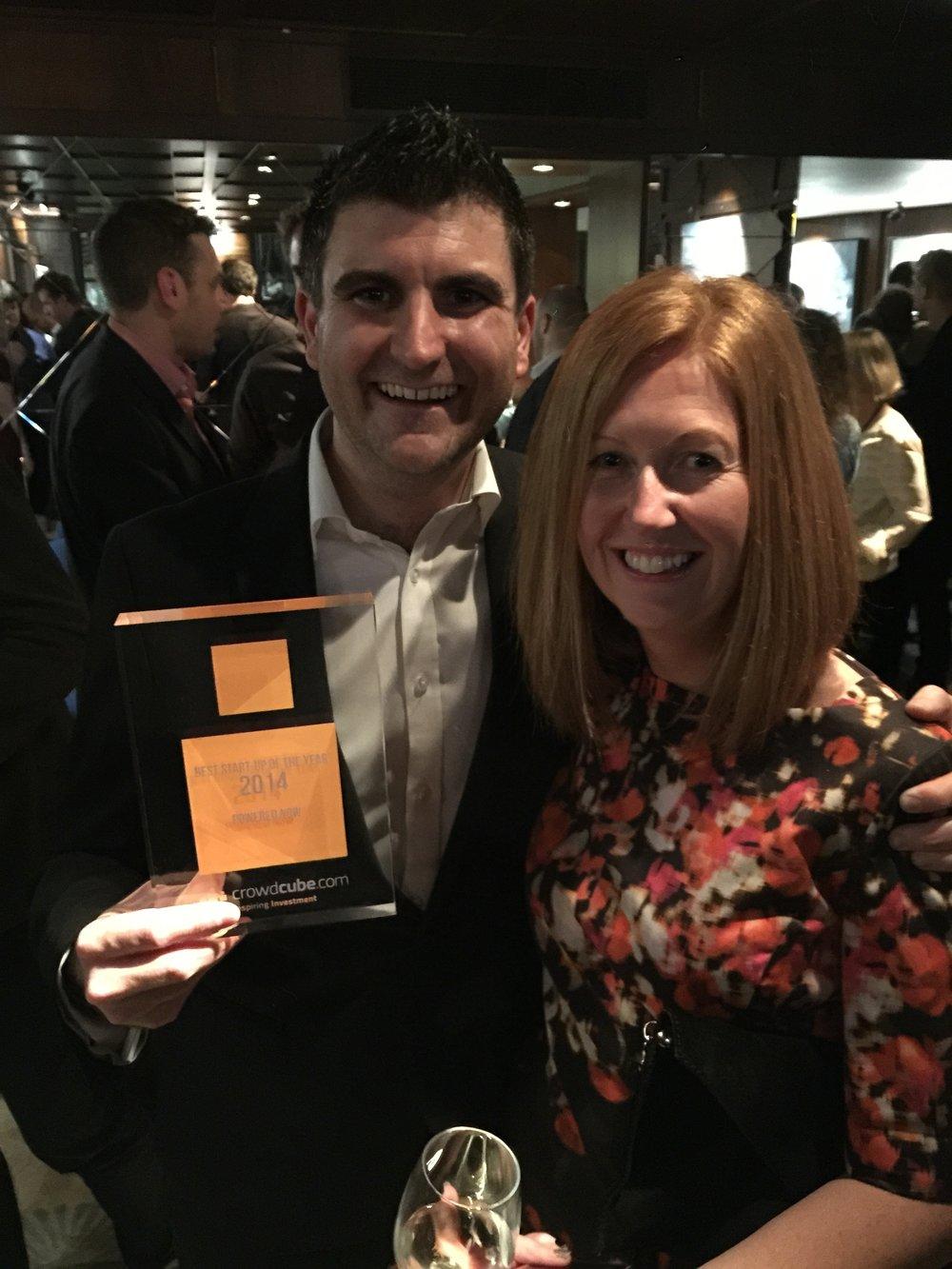 Winning Crowdcube Best Startup Award