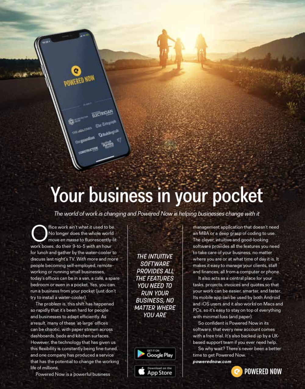 Your business in your pocket - The world of working is changing and Powered Now is helping businesses change with it