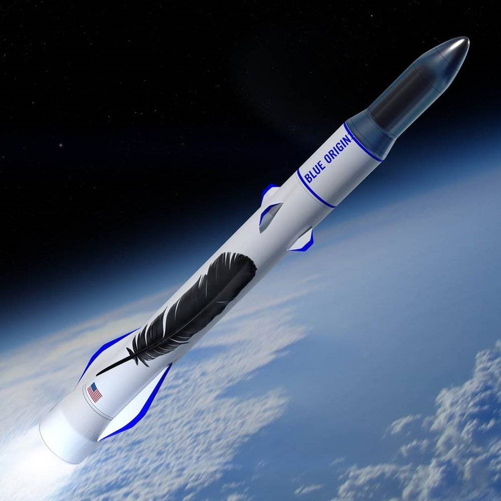 New Glenn Rocket - These days you can't be a billionaire entrepreneur without some type of rocket program. Is this Jeff Bezos's ticket to infinity and beyond!Height: 326 feet tallThrust: 3.85 million pounds (21 Boeings)Payload: 99,210 lbs (10 elephants)Cost of each launch: $150 million
