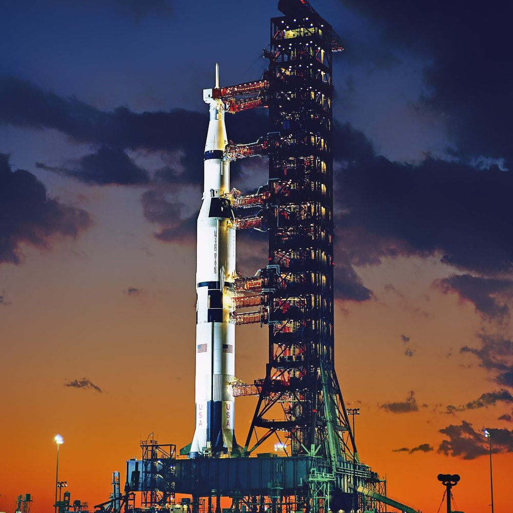 The Saturn V - The granddaddy of them all.Height: 363 feet tallThrust: 7.6 million pounds (42 Boeing 747s)Payload: 310,000 lbs (33 elephants)Cost of each launch: $1.16 billion (in today's money)