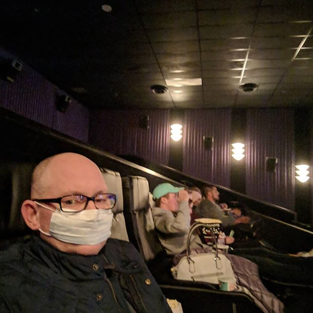 This is my post-chemo look for attending movies.