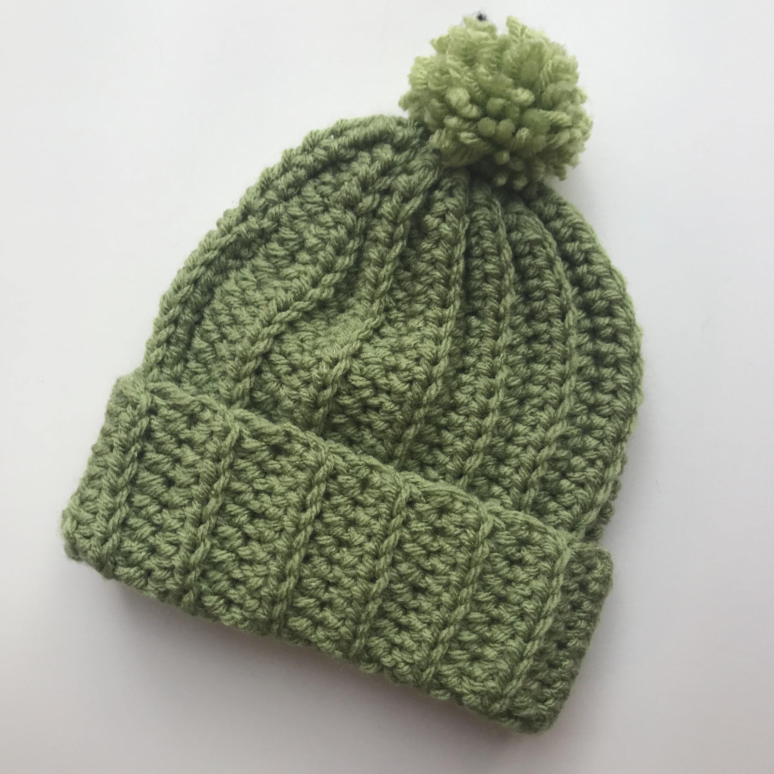 Sage Green Crochet Hat — Domke Design 9fbc9238b41