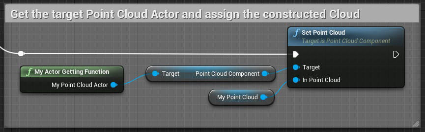 Assign the Cloud asset to a Point Cloud Actor.