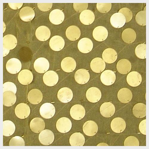 Gold Paillette Organza