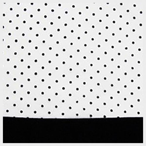 White Organza with Black Pin Dot
