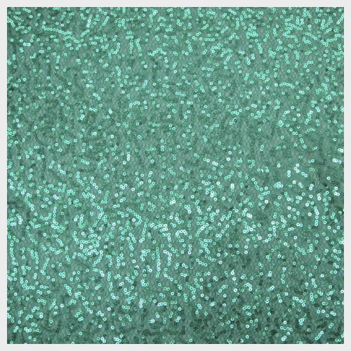 Turquoise Sequin Mesh