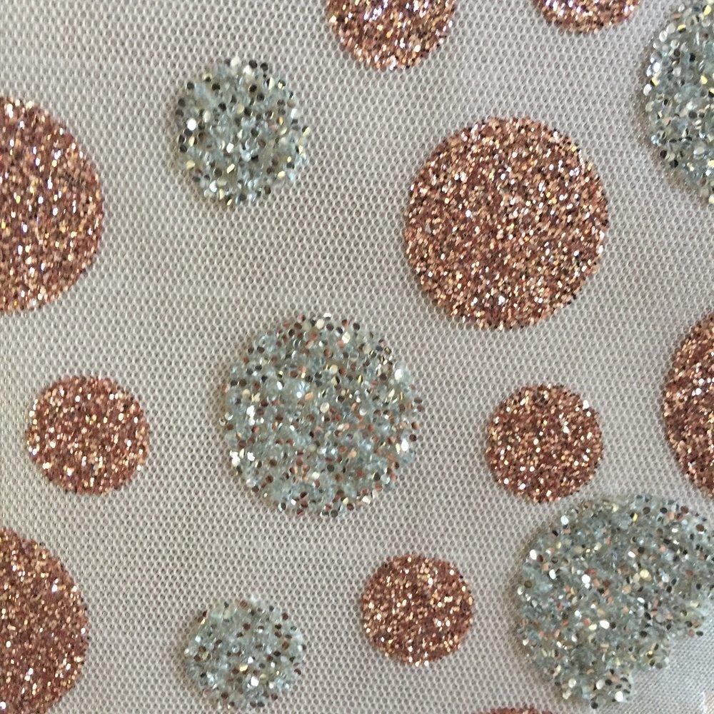 Champagne Glitter Dot