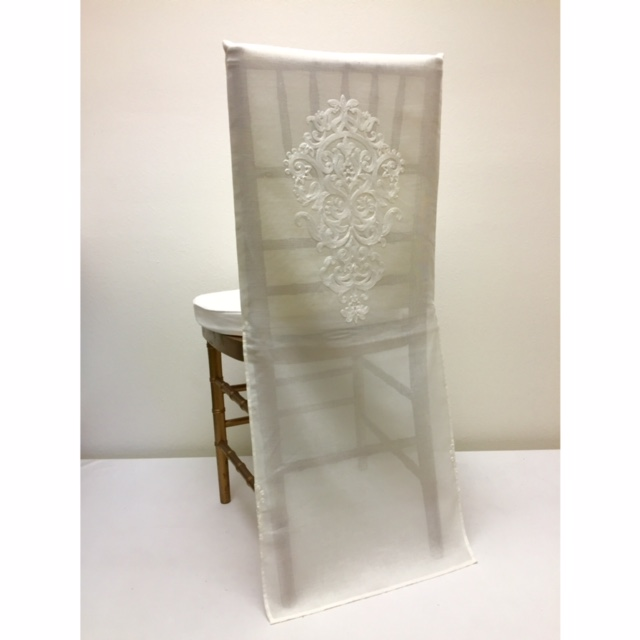 Ivory Medallion Chair Back