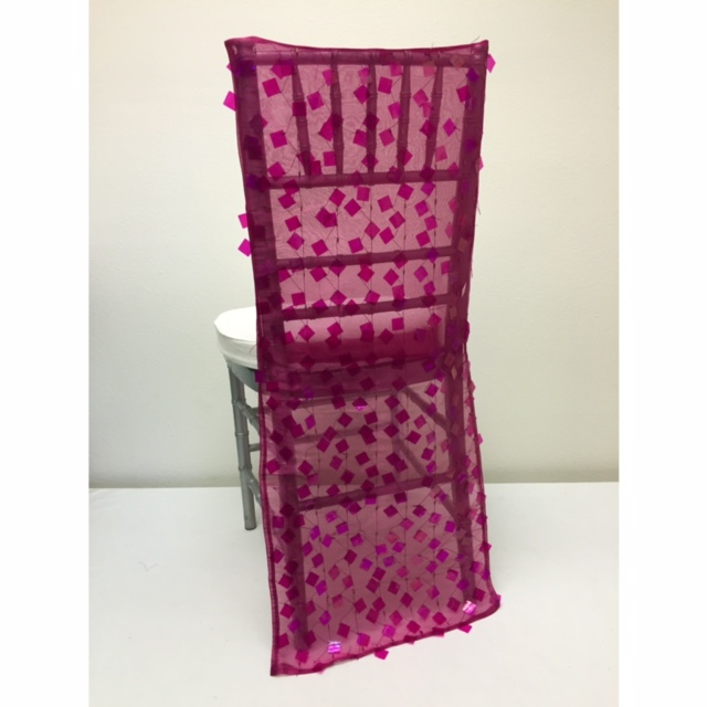 Fuchsia Paillette Chair Back