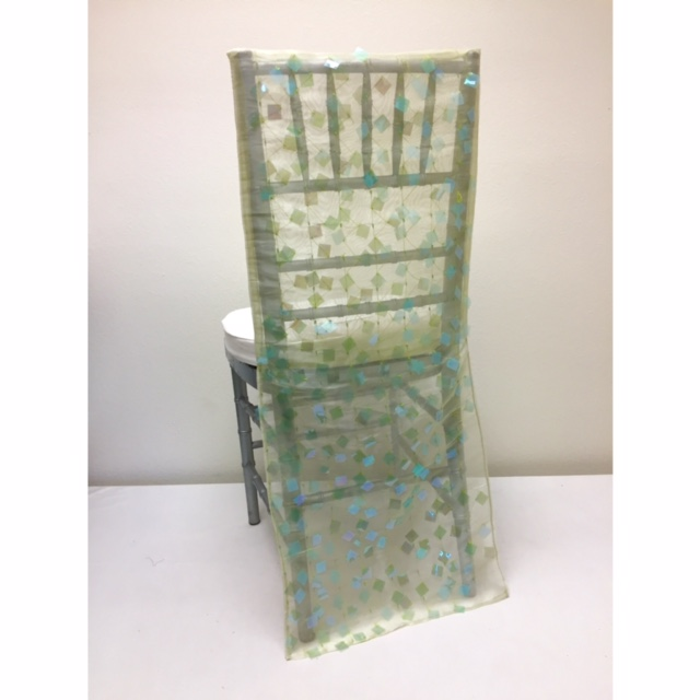 Wasabi Paillette Chair Back