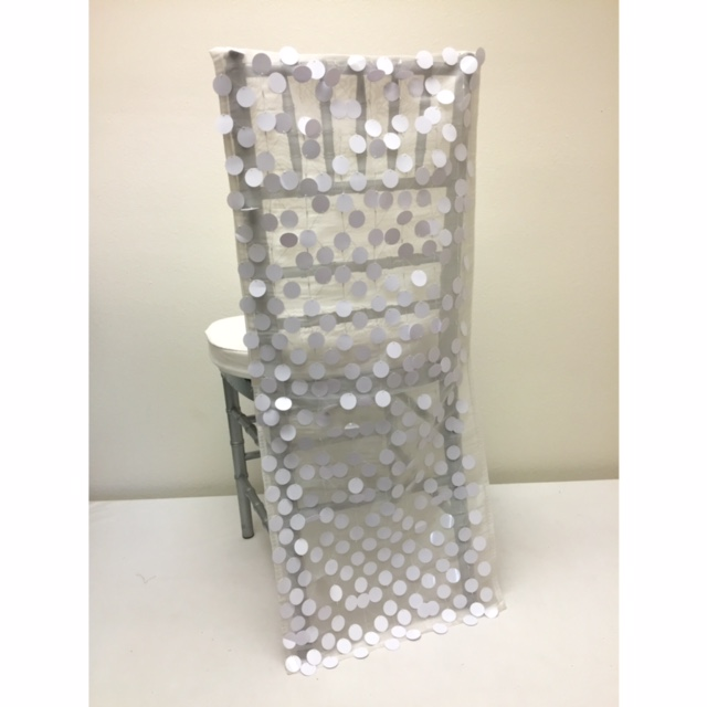 White Paillette Chair Back