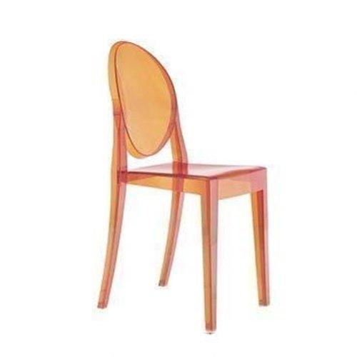 Orange Kartell Victoria Ghost Chair
