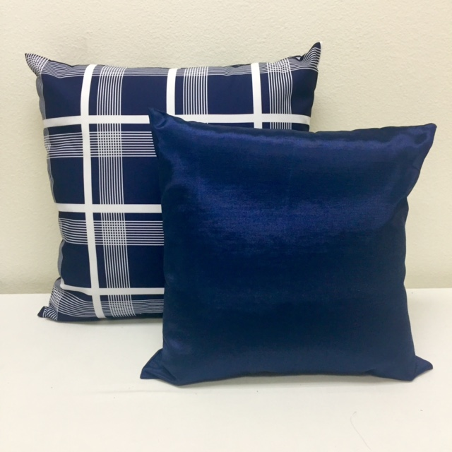 Navy Plaid & Navy Bengaline
