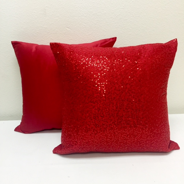 Poppy Nu Silk & Red Sequin Mesh