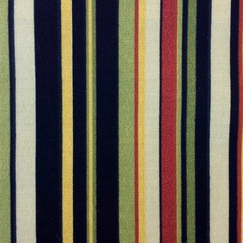 Black Green Canvas Stripe