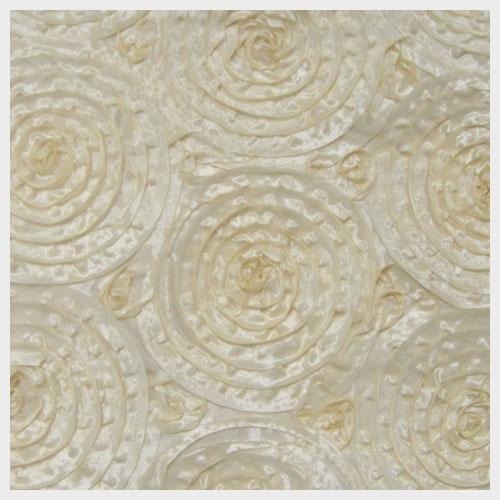 Ivory Circle Linen Taffeta