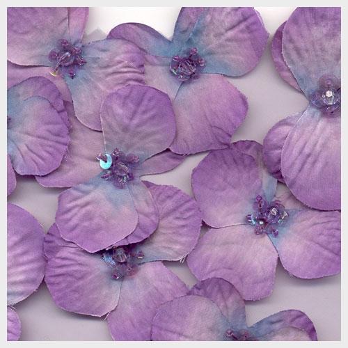 Amethyst Floral Organza
