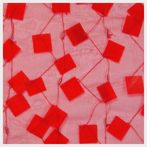Red Paillette Organza