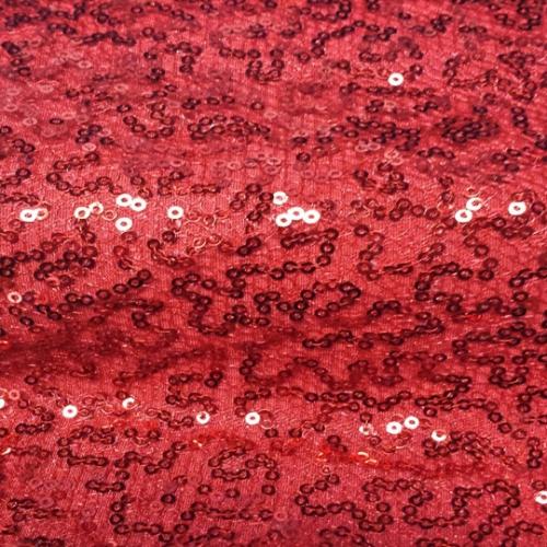 Red Sequin Mesh
