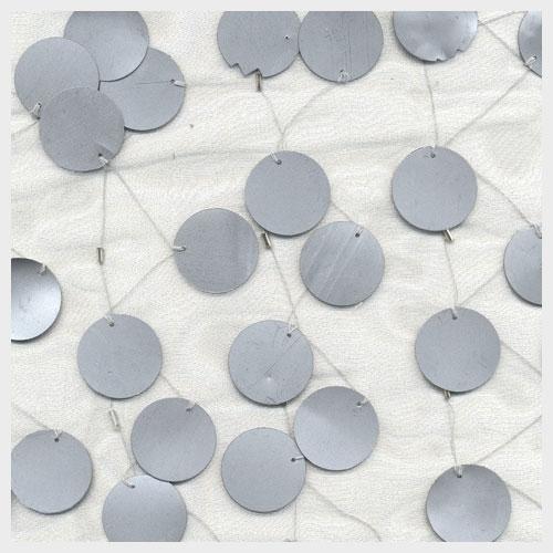 Silver Paillette Organza