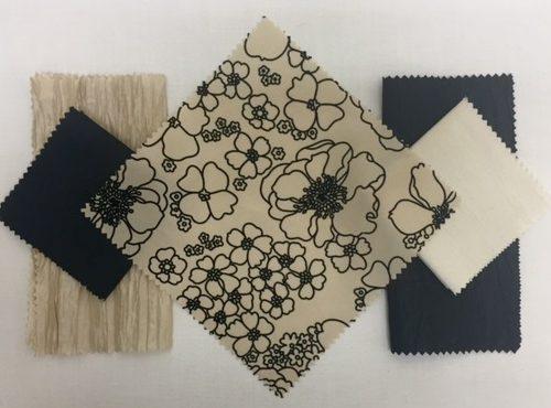 Ivory Bark | Black Nu Silk | Pop Art | Black Bark | Ivory Nu Silk