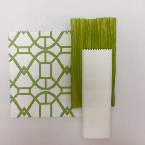 Green Metropolis | Grass Nu Silk | White Textured Linen | Apple Green Bark