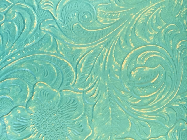 Turquoise Tooled Leatherette