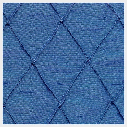 Prussian Blue Pintuck Taffeta