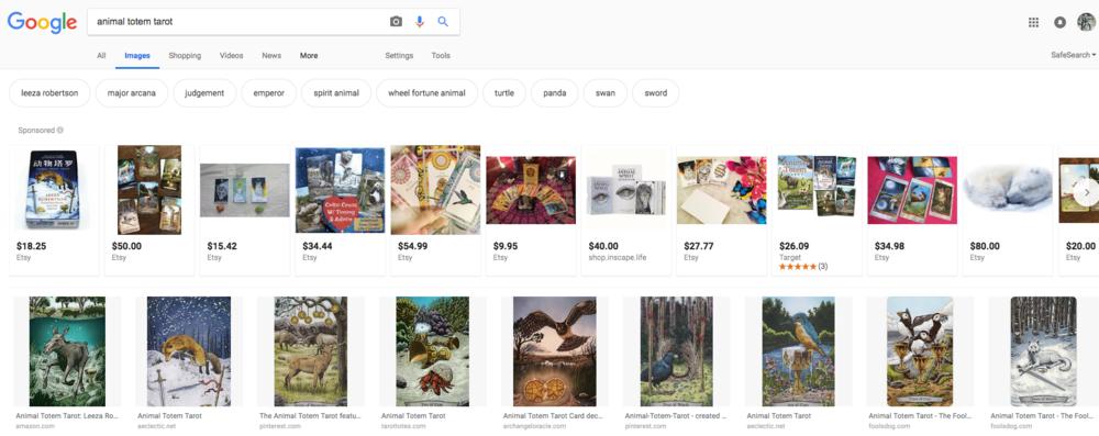 Google Images - Animal Totem Tarot