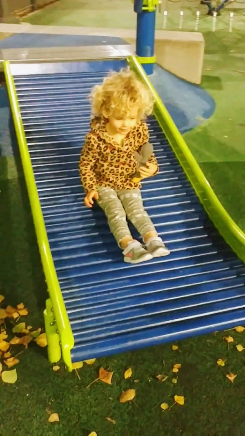 The bumpy slide! Not the best picture quality but you get the point!
