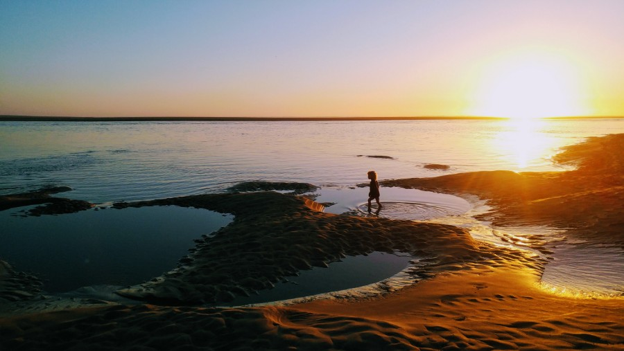 Exploring tide pools in Netarts, Oregon