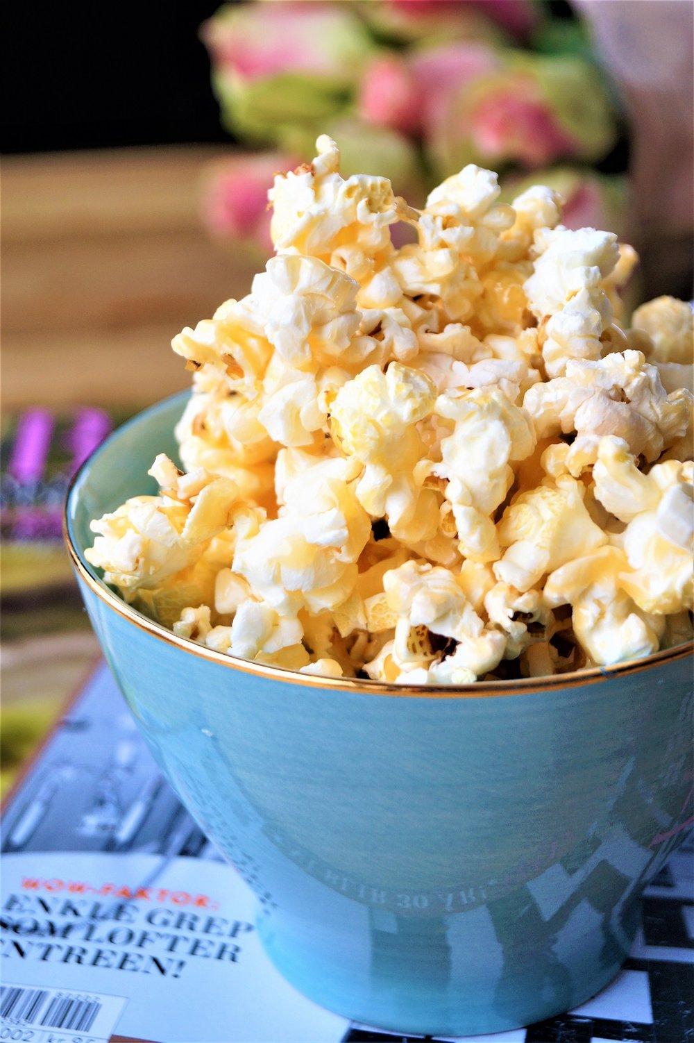 Popcorn men myk, salt karamell