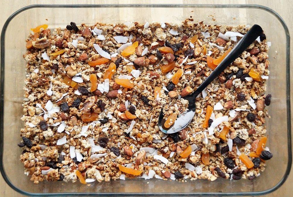 Hjemmelaget granola - 3 x kokos