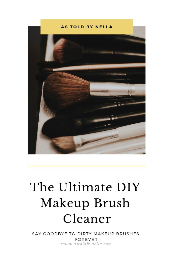 the ultimate DIY makeup brush cleaner