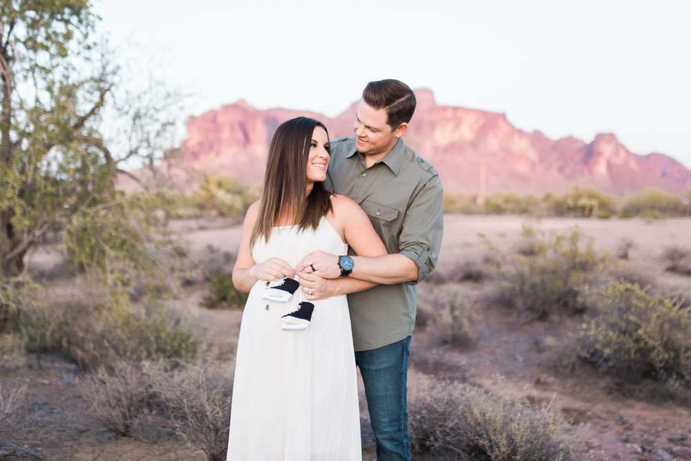 Stephen & Julie's Maternity Session - The Paseo, Apache Junction, Arizona