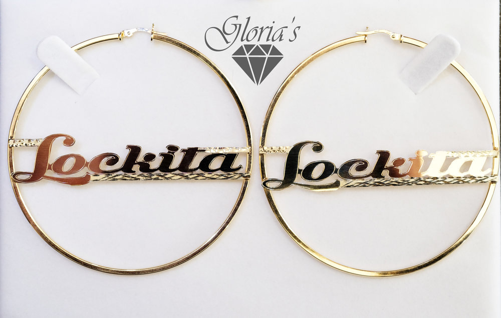 We customize almost anything - 14k hoops we added lettering. Lettering can be added to bracelets, rings, necklaces and more.
