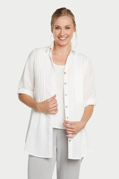 AA68 - Pleated Front Tunic