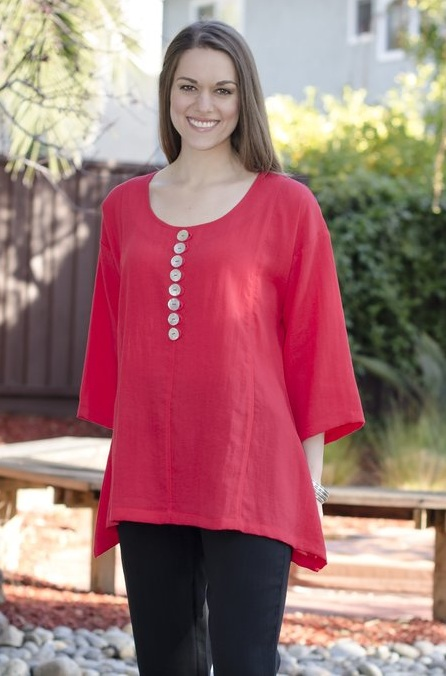 AA89 - Multi Buttons Tunic